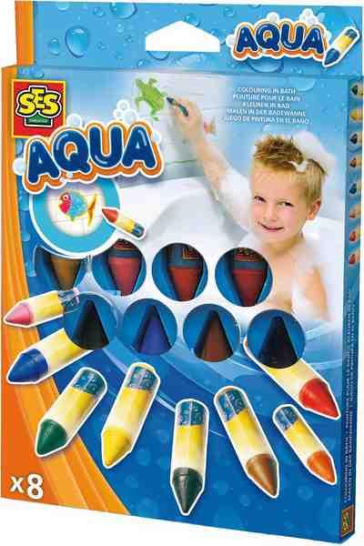 SES Creative Stifte, »Malstifte Badewanne 8 Farben Aqua«