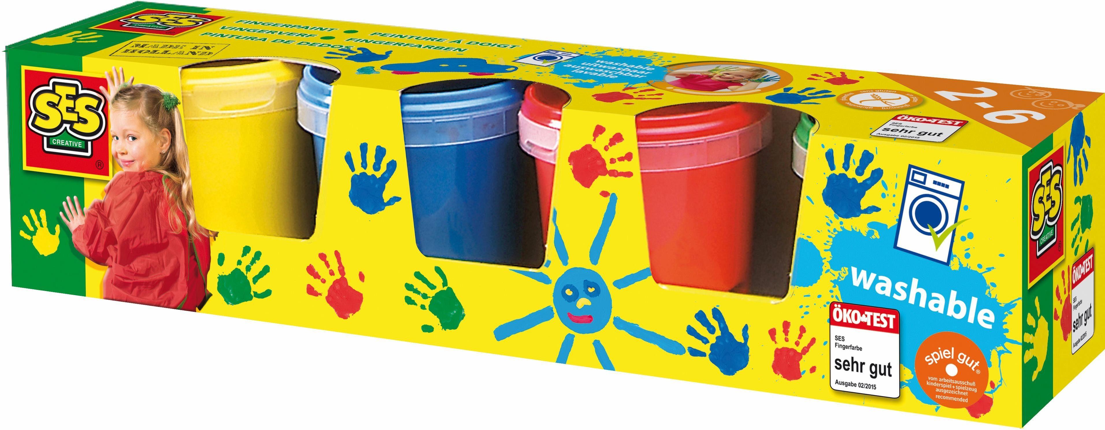 SES Creative Bastelset, »Fingerfarbe 4 Farben je 150ml«