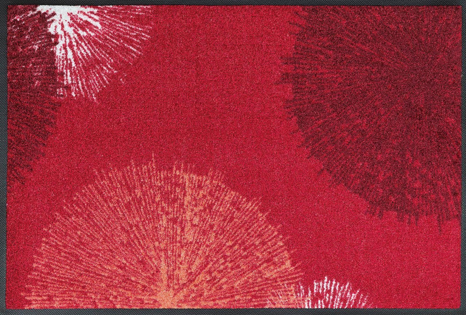 Fußmatte »Firework«, wash+dry by Kleen-Tex, rechteckig, Höhe 7 mm