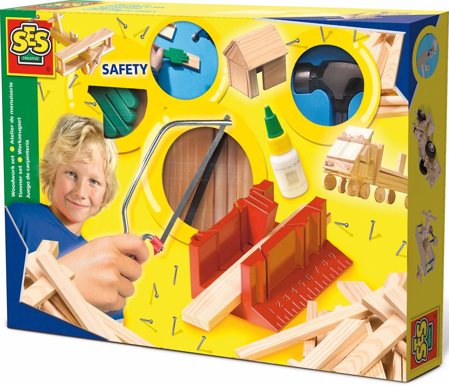 SES Creative Holz Bastelset, »Werkzeugset Luxus«