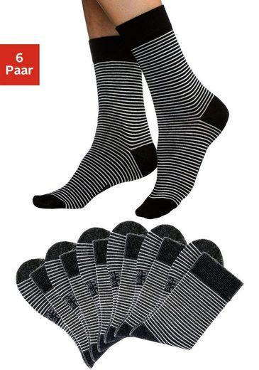 H.I.S Socken (6-Paar), mit druckfreiem Bündchen
