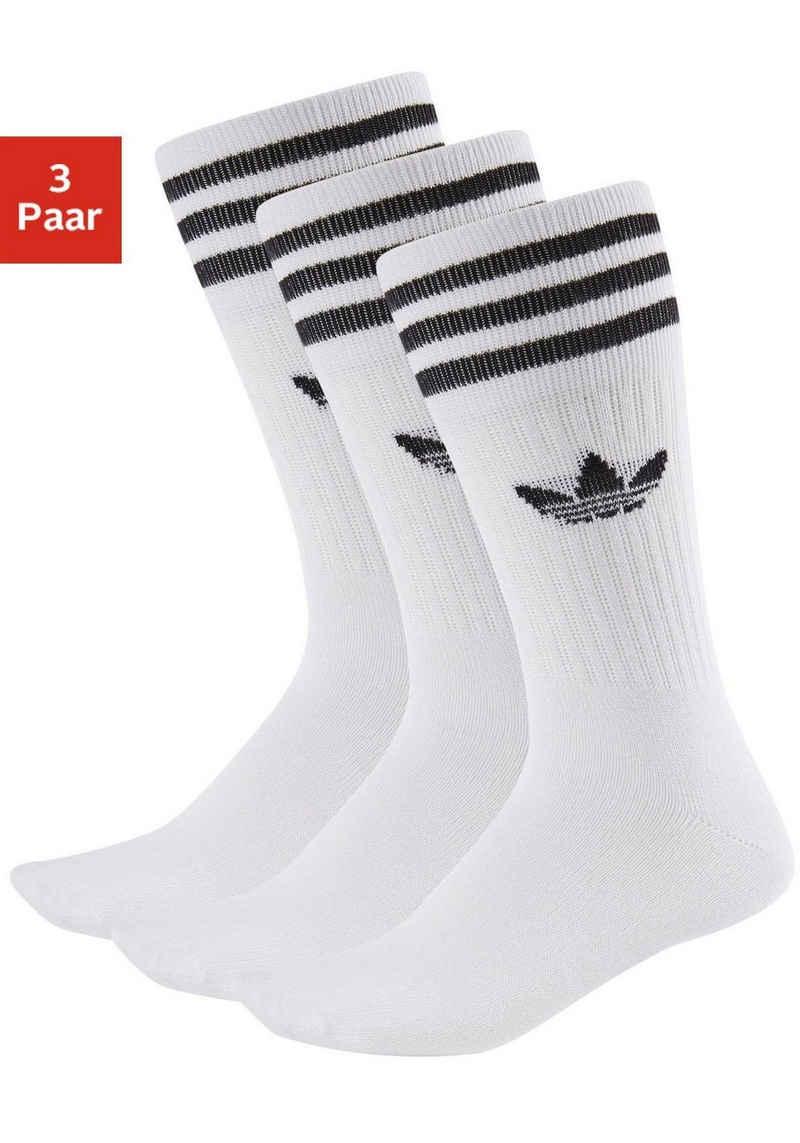 adidas Originals Socken »Crew« (3-Paar) mit klassischem Label und Streifen