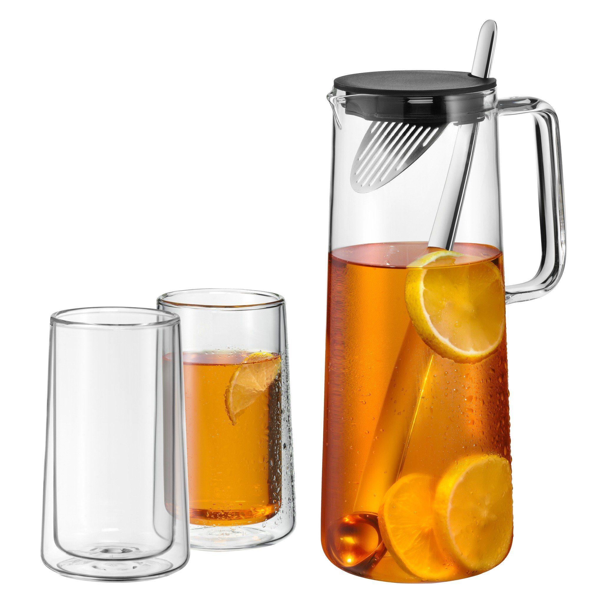 WMF Karaffe mit 2 doppelwandigen Gläser »Ice TeaTime«