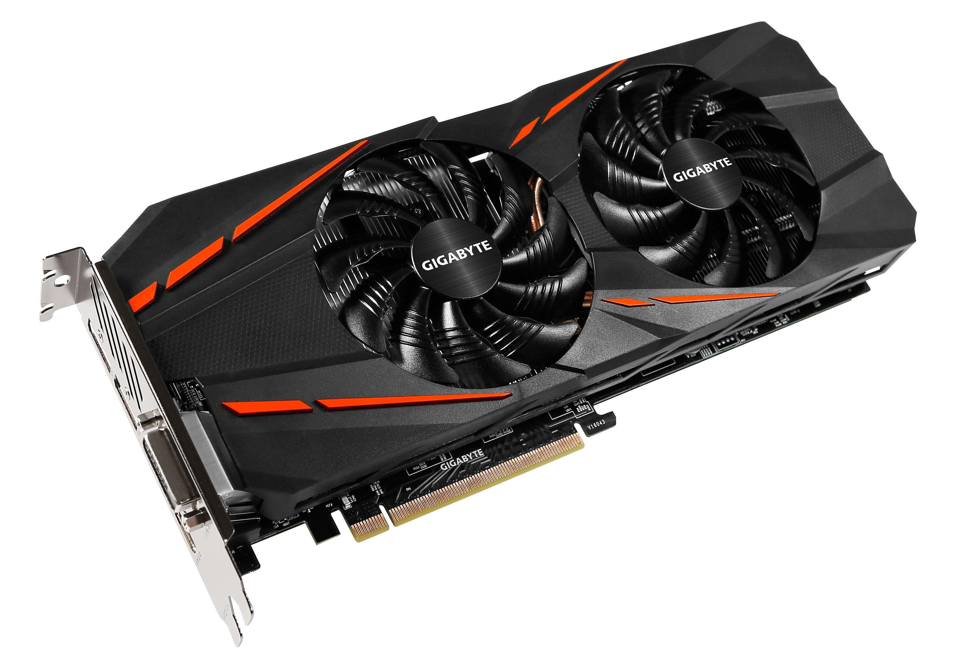 GIGABYTE Grafikkarte NVIDIA GeForce® GTX 1060 G1 Gaming 6GB »GV-N1060G1 GAMING-6GD (Rev. 2.0)«