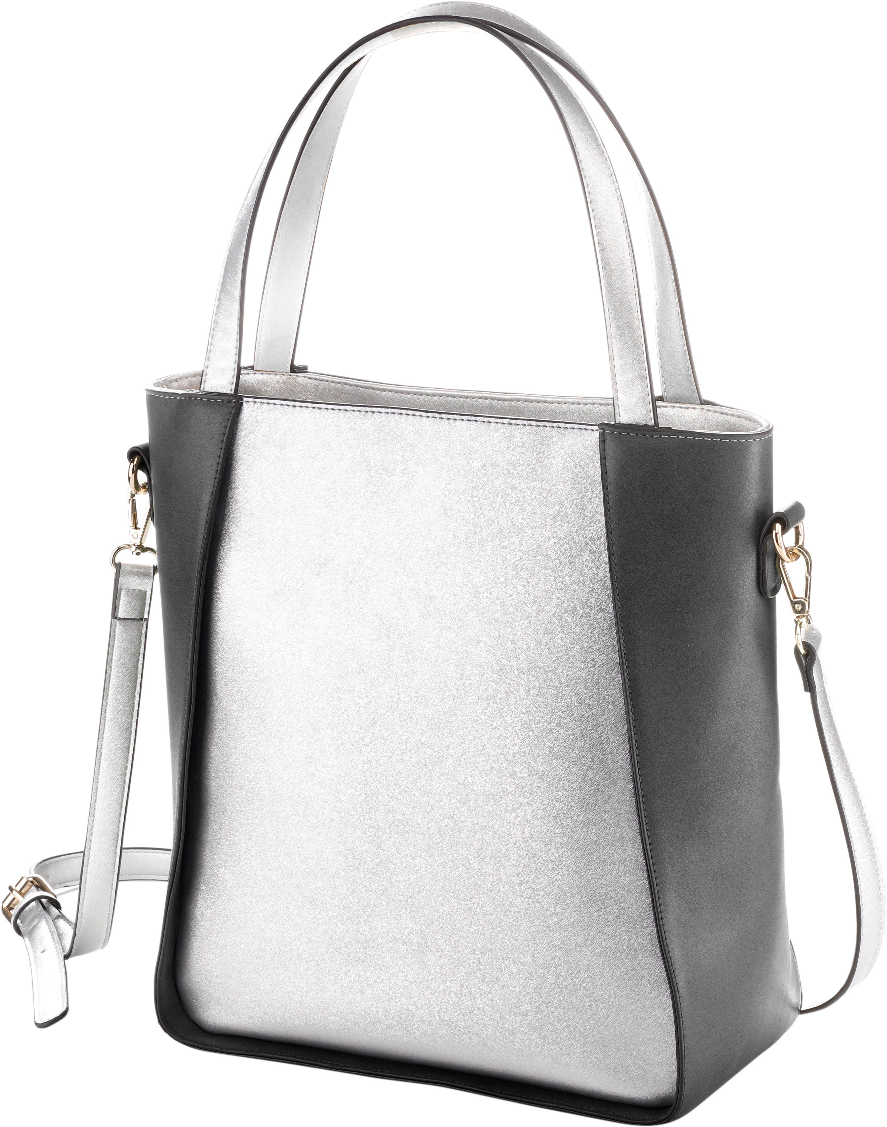 COEMI Tasche in trendiger Zweifarbigkeit