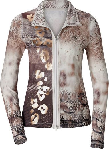 Création L Shirt Jacket With Lustrous Leo-gloss Printing