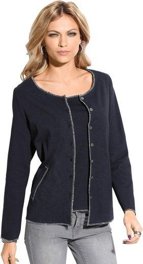 Création L Shirtjacke aus reiner Baumwolle