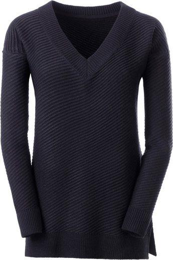 Classic Inspirationen Pullover mit außergewöhnlichem diagonalem Strickmuster