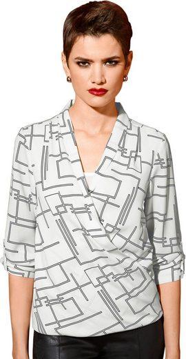 Création L Bluse in attraktiver Wickel-Optik