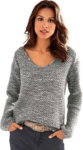 Création L Pullover mit unterschiedlichen Garnstärken
