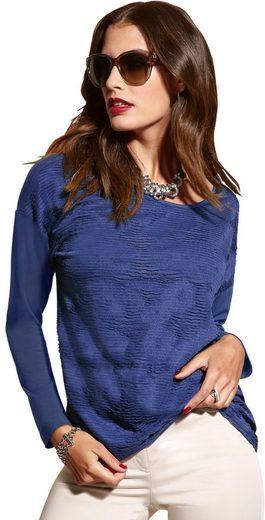 Création L Shirt in strukturiertem Jersey-Jacquard