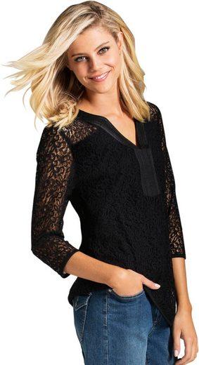 Ambria Shirt mit Ärmel und Schulter aus feiner Spitze