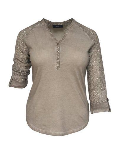 NAVIGAZIONE 3/4-Arm-Shirt, abgerundeter Saum