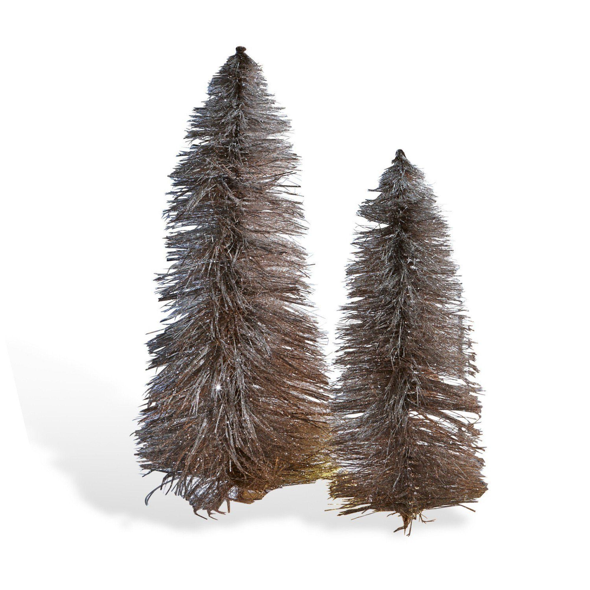 Loberon Deko-Bäume 2er-Set »Woodrow«