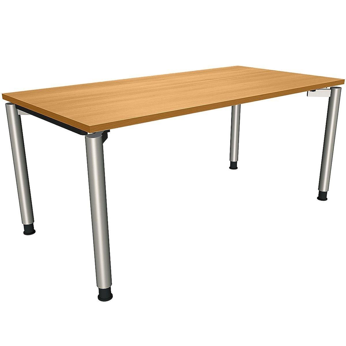 FMBUEROMOEBEL Manuell höhenverstellbarer Schreibtisch 160 cm 4-Fu... »Sidney« | Büro > Bürotische > Schreibtische | FMBUEROMOEBEL
