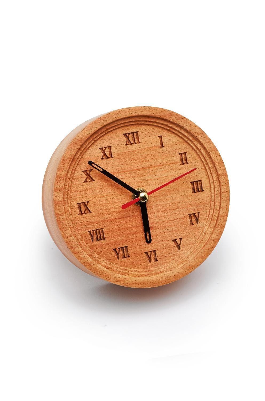 """VBS Holz-Tischuhr """"TickTack"""" 12 cm Durchmesser"""