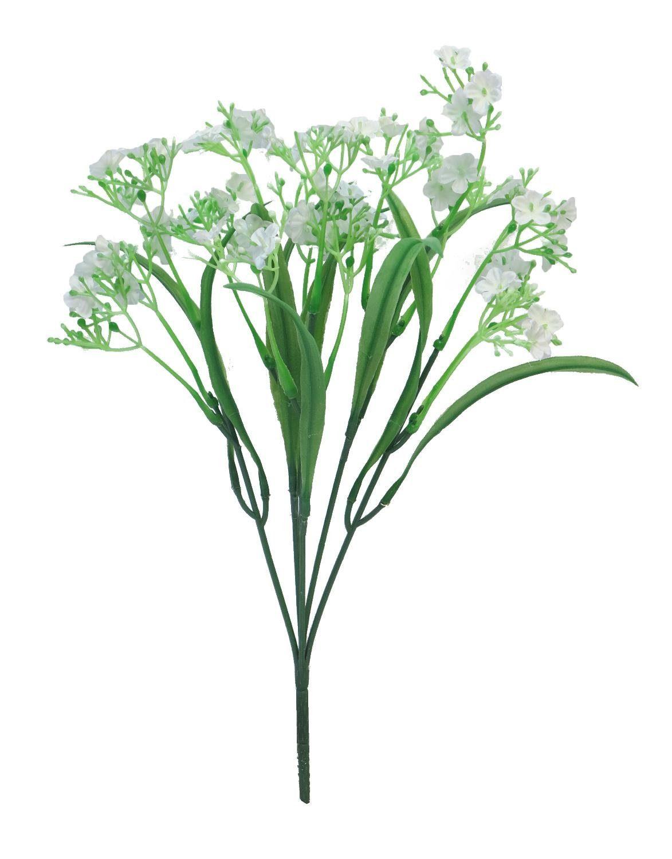 Wachsblumen Zweig, ca. L 37 cm, weiß