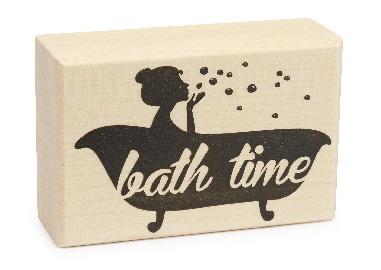 """Stempel """"bath time"""""""