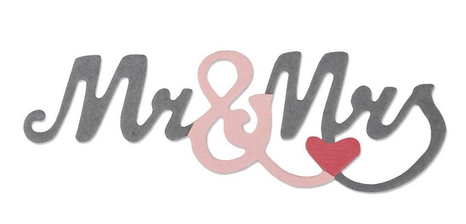 "Sizzix Thinlits Stanzschablone ""Mr. & Mrs. 2"""