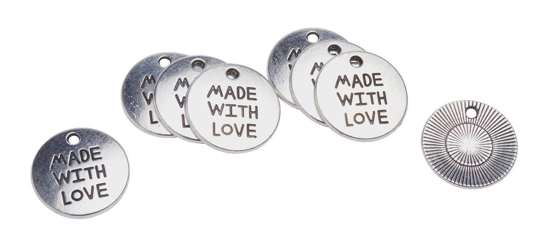 """VBS Schmuckanhänger """"Made with Love"""" 8 St."""