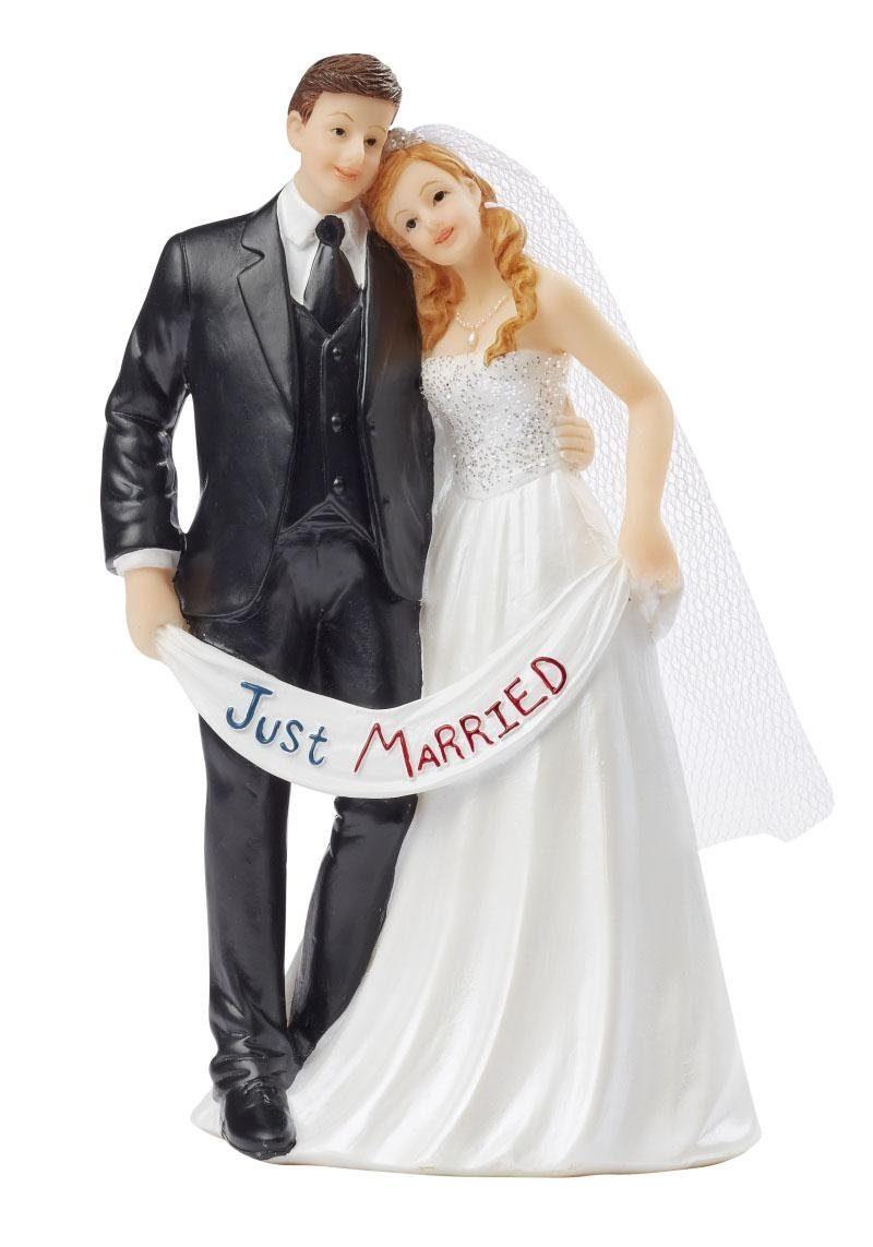 """Tortenfigur """"Hochzeitspaar Just Married"""""""