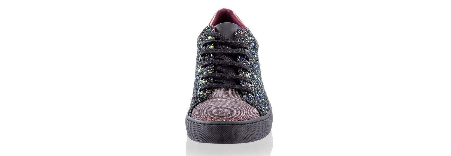 Alba Moda Sneaker mit Glitzer- und Mesh-Effekten Kaufen Billig Zu Kaufen BhyrnmOr8G