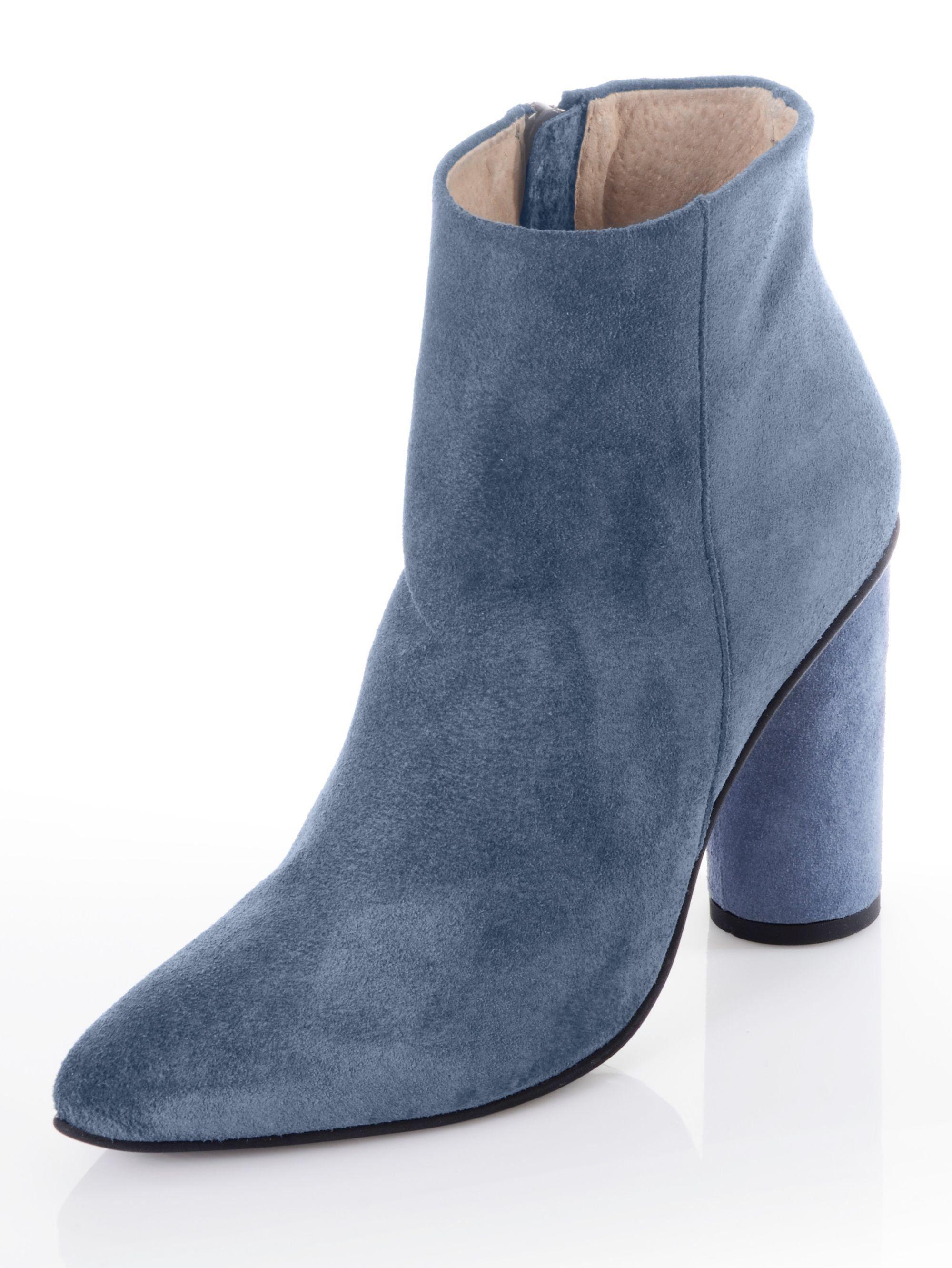 Alba Moda Stiefelette aus Veloursleder kaufen  blau