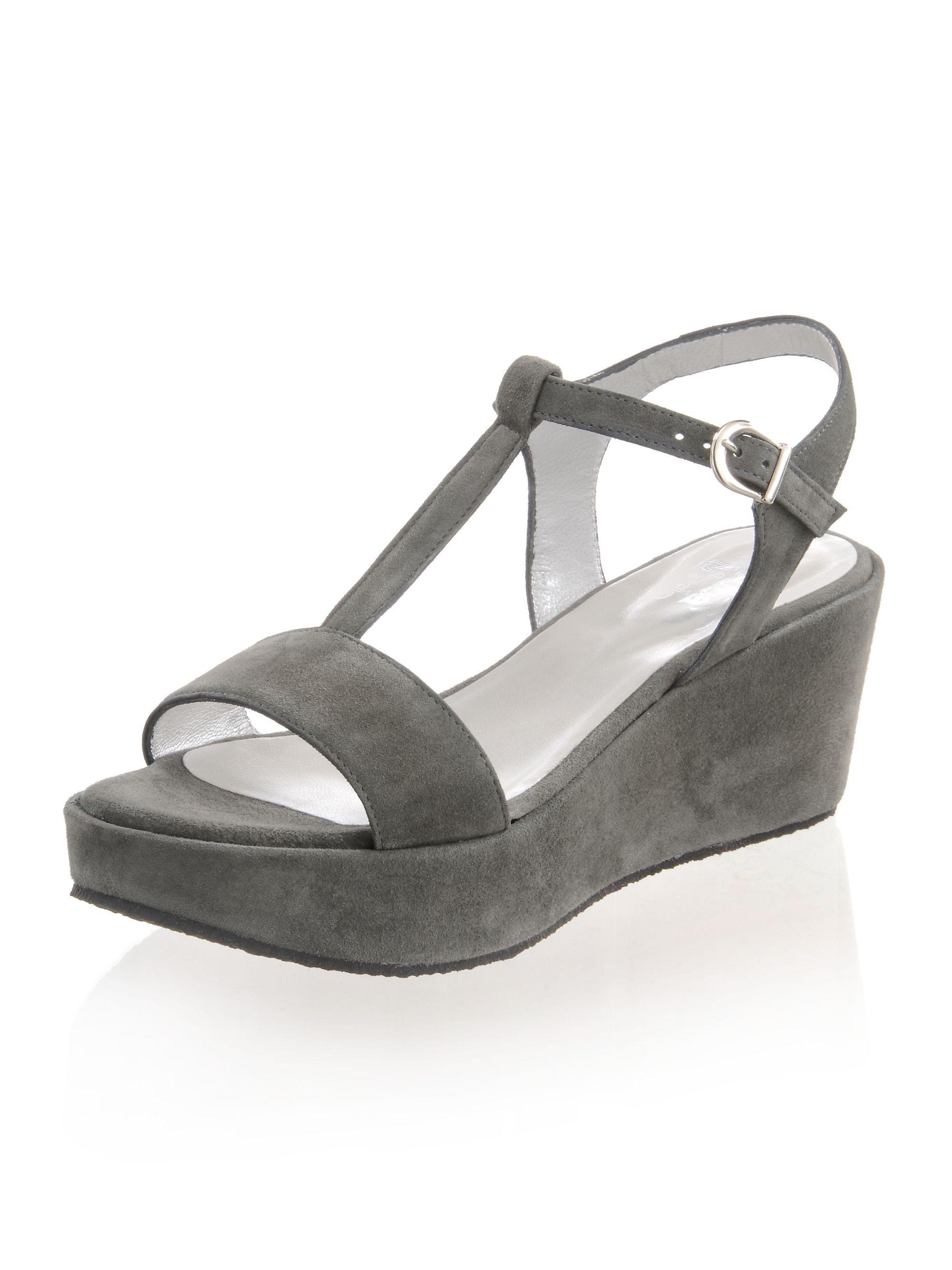 Alba Moda Sandalette mit Keilabsatz online kaufen  grau