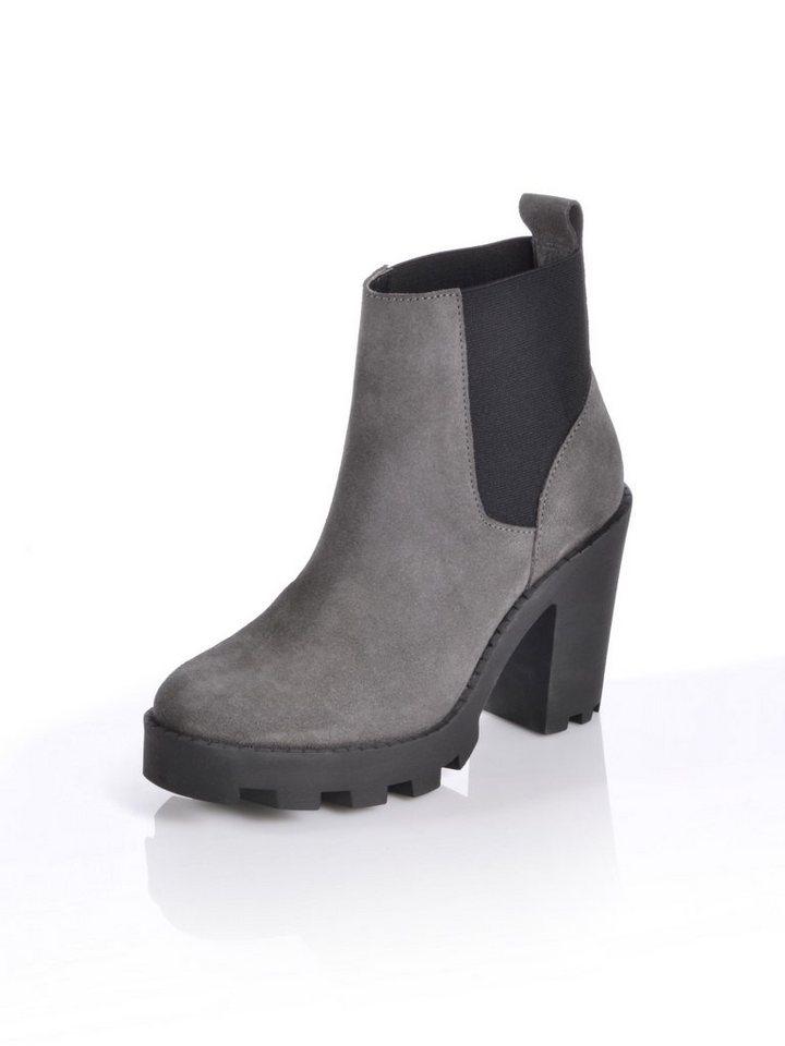alba moda plateau chelsea boot mit stretch eins tzen auf. Black Bedroom Furniture Sets. Home Design Ideas