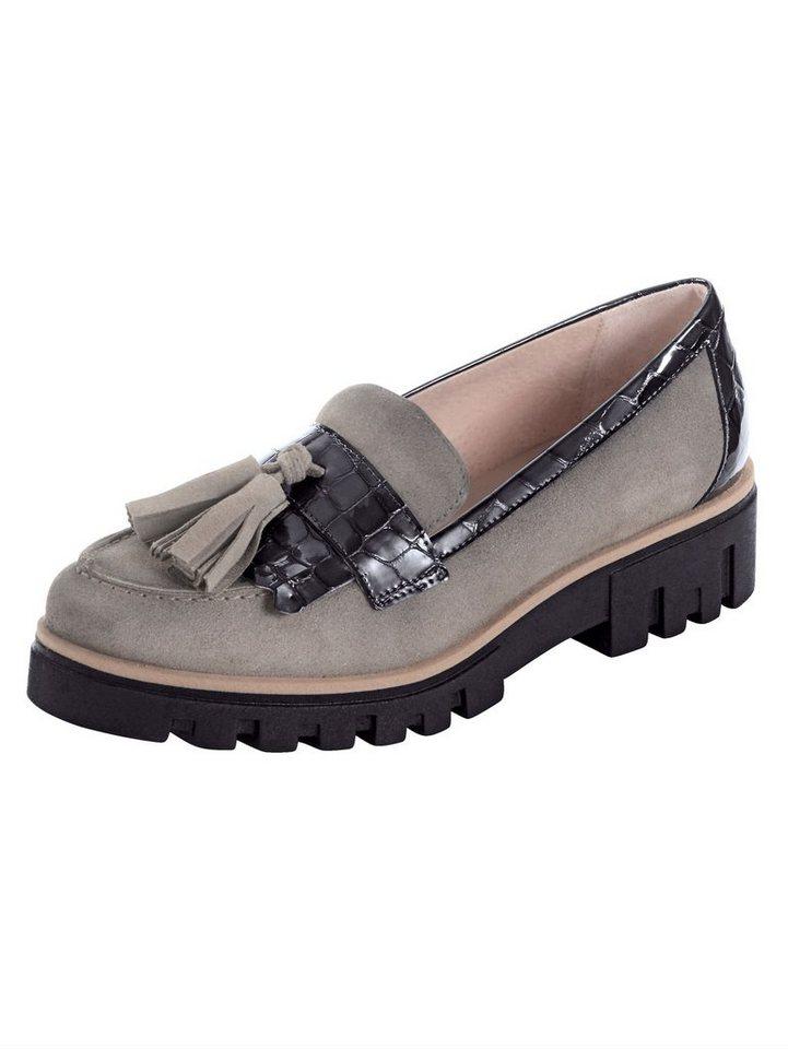Alba Moda Mokassin mit Quasten | Schuhe > Mokassins | Grau | Gummi - Leder | Alba Moda