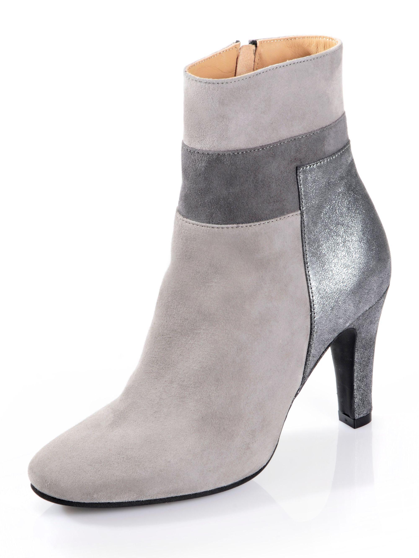 Alba Moda Stiefelette in farbharmonischer Zweifarbigkeit online kaufen  grau-silberfarben