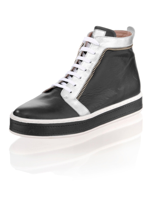 Alba Moda Sneaker in hoher Form, Mit dekorativen Reißverschlusselementen online kaufen   OTTO