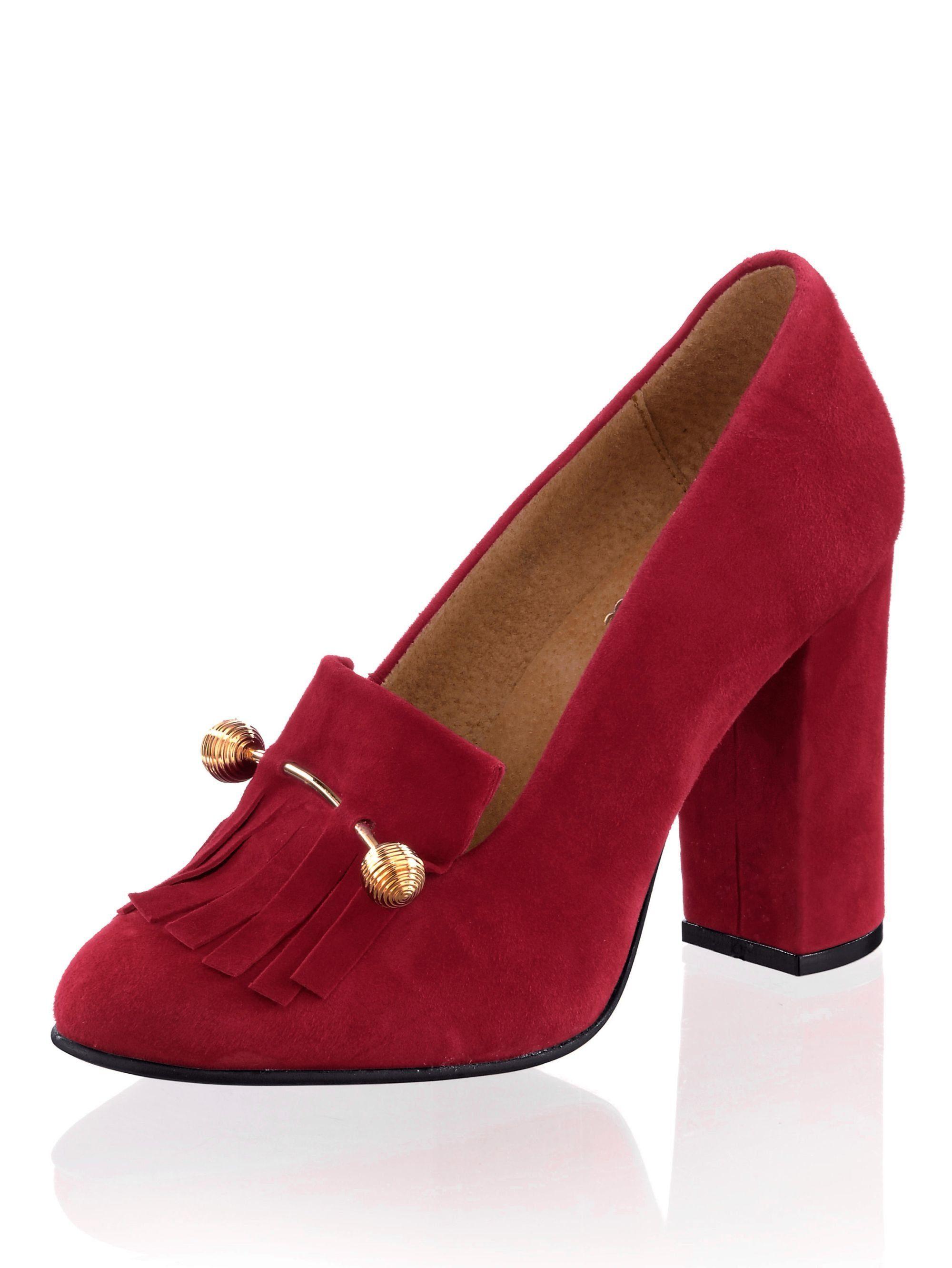 Alba Moda Pumps mit Schmuckspange online kaufen  rot#ft5_slash#goldfarben