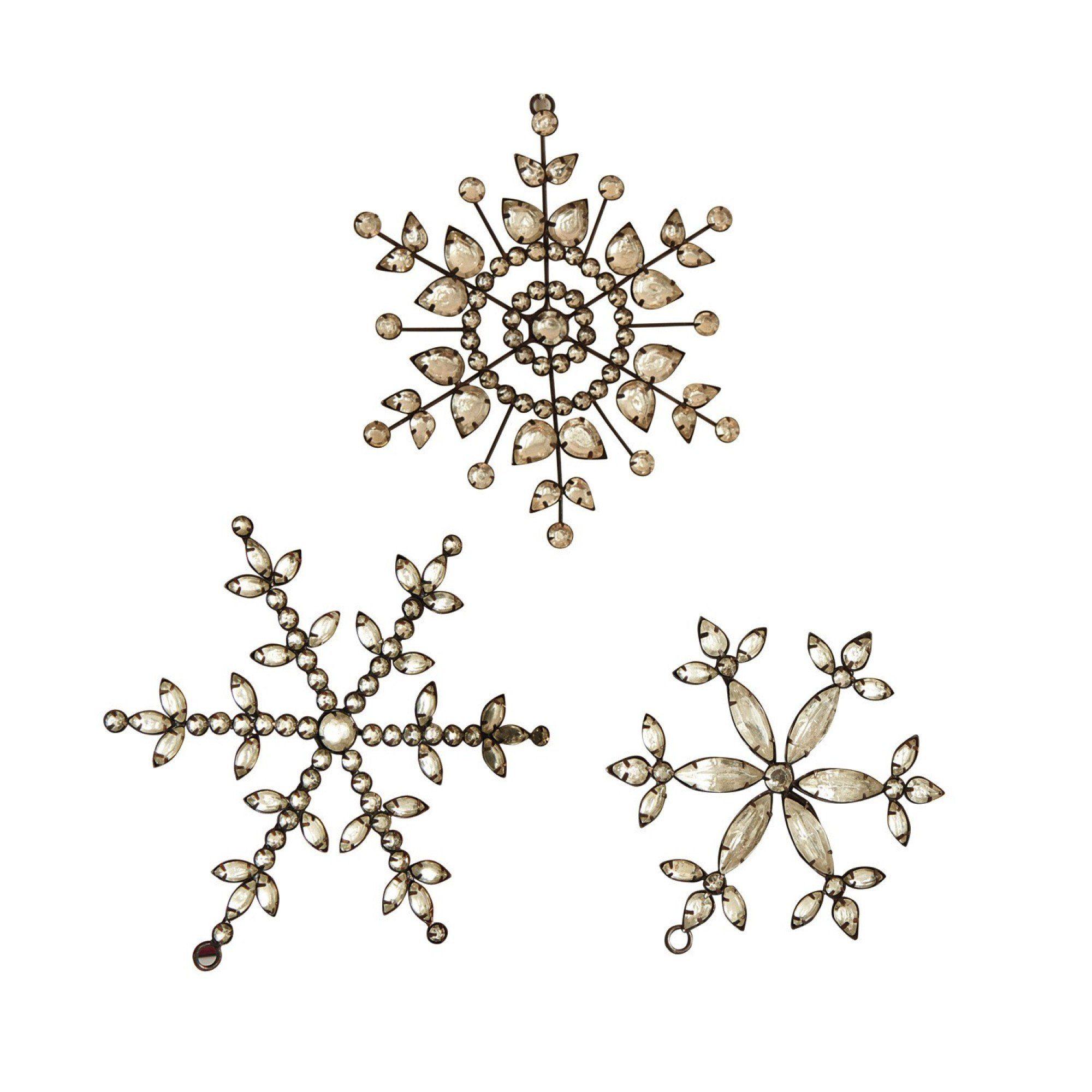 Loberon Weihnachtsschmuck 3er-Set »Holy Stars«