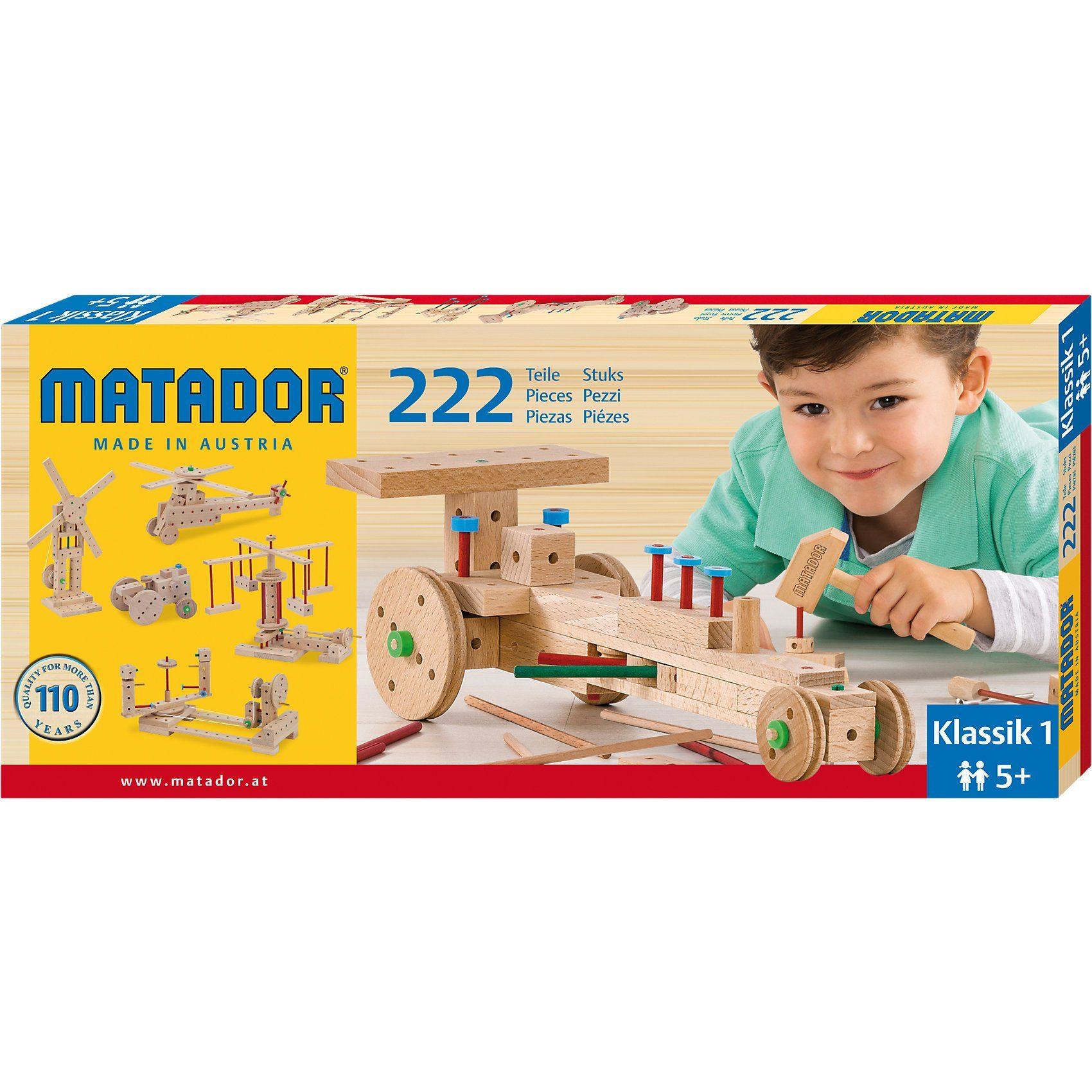 Matador Klassic Nr.1, 222 Teile