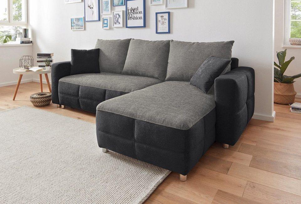 sit more polsterecke mit bettfunktion und bettkasten online kaufen otto. Black Bedroom Furniture Sets. Home Design Ideas