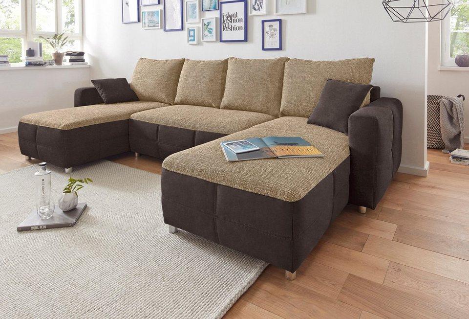 sit more wohnlandschaft xl mit bettfunktion und bettkasten online kaufen otto. Black Bedroom Furniture Sets. Home Design Ideas