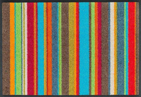 Fußmatte »Stripes«, wash+dry by Kleen-Tex, rechteckig, Höhe 7 mm, Fussabstreifer, Fussabtreter, Schmutzfangläufer, Schmutzfangmatte, Schmutzfangteppich, Schmutzmatte, Türmatte, Türvorleger