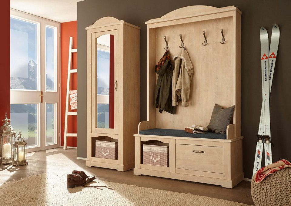 home affaire kompaktgarderobe arosa breite 123 cm. Black Bedroom Furniture Sets. Home Design Ideas