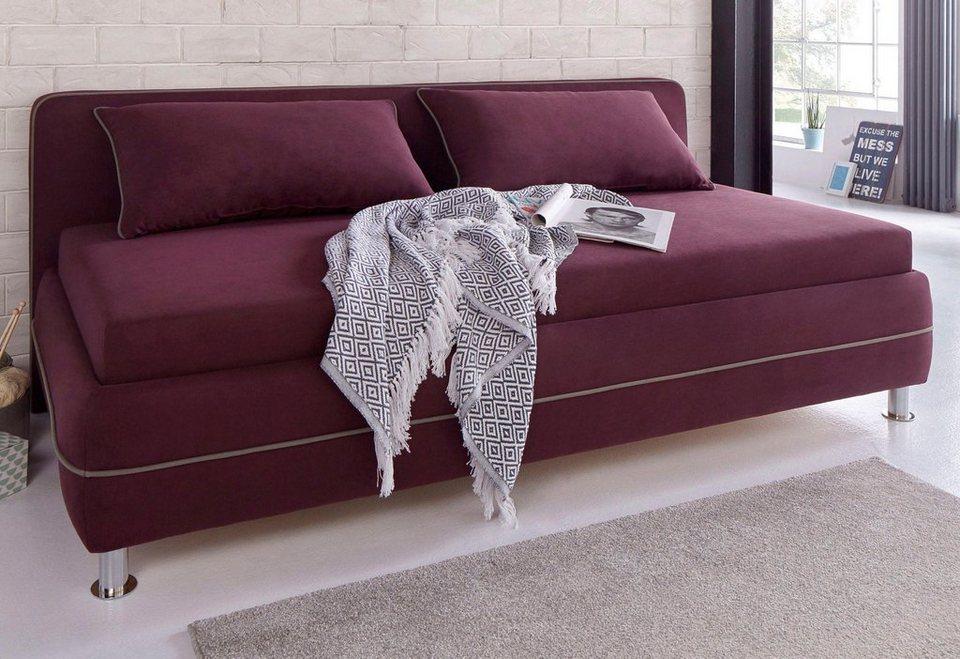 maintal polsterliege inkl bettkasten und kissen set. Black Bedroom Furniture Sets. Home Design Ideas