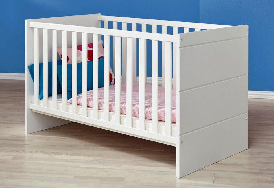 Kinderbett »dresden« in weiß matt online kaufen otto