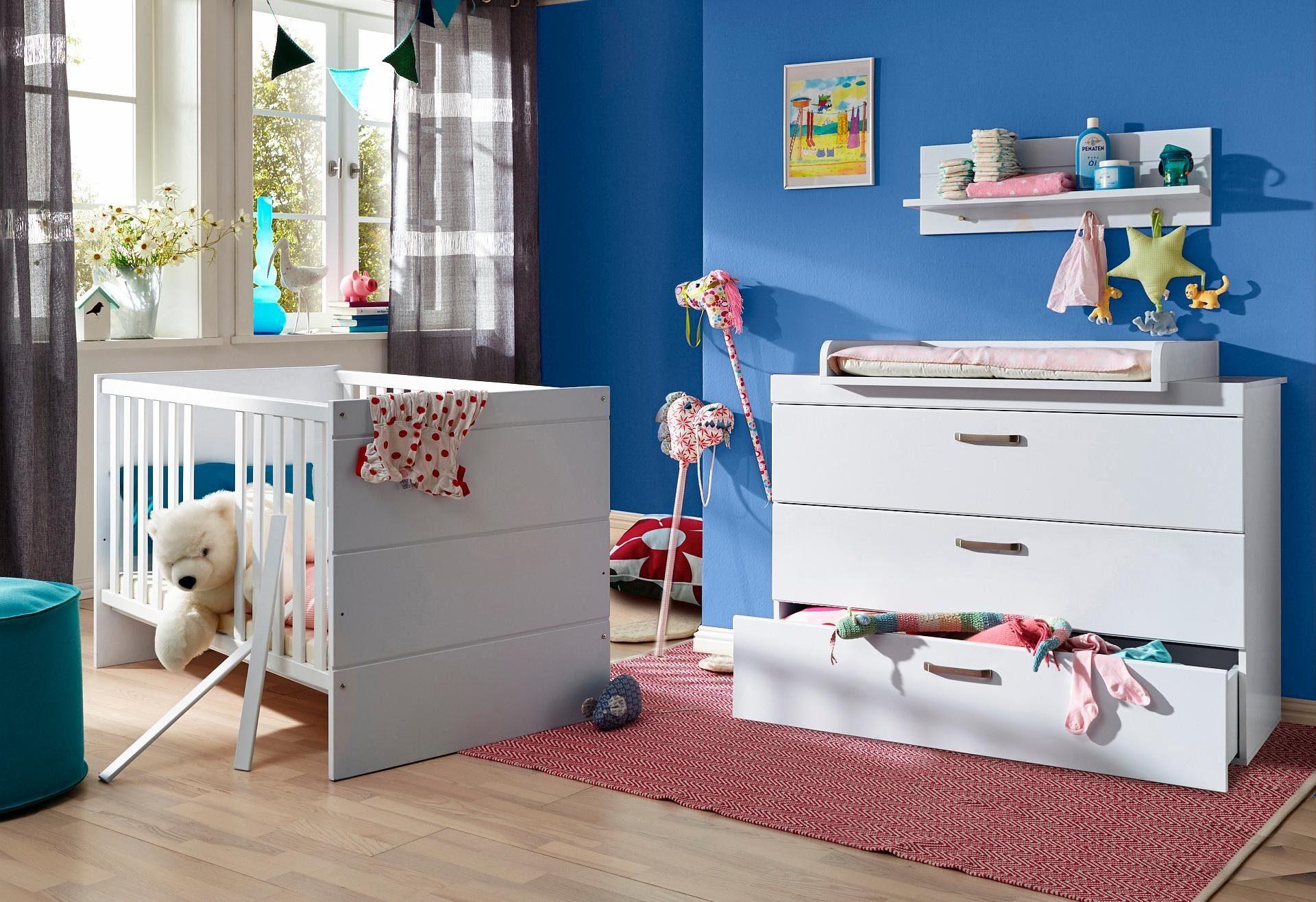 Babyzimmer Spar-Set »Dresden«, Babybett + Wickelkommode (2-tlg.) in weiß matt