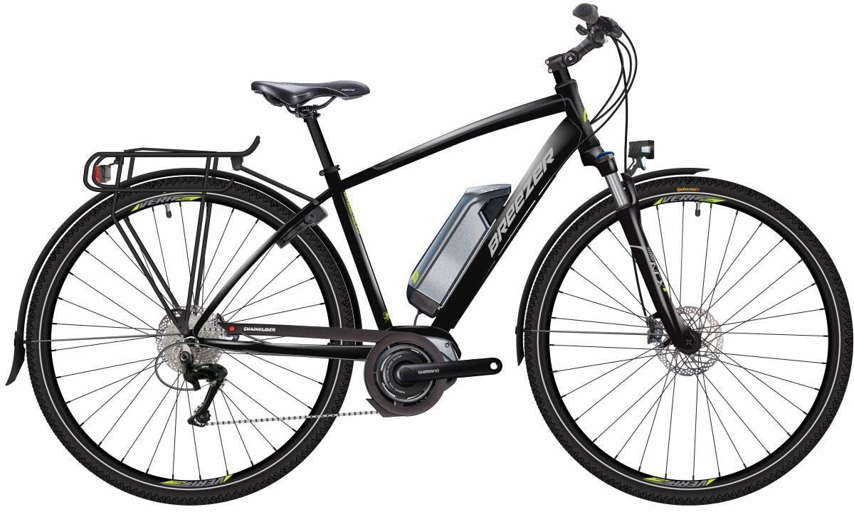 Breezer He Trekking E-Bike Mittelmotor 36V/250W, 28 Zoll, 10 Gang Shimano Deore XT, »GREENWAY +«