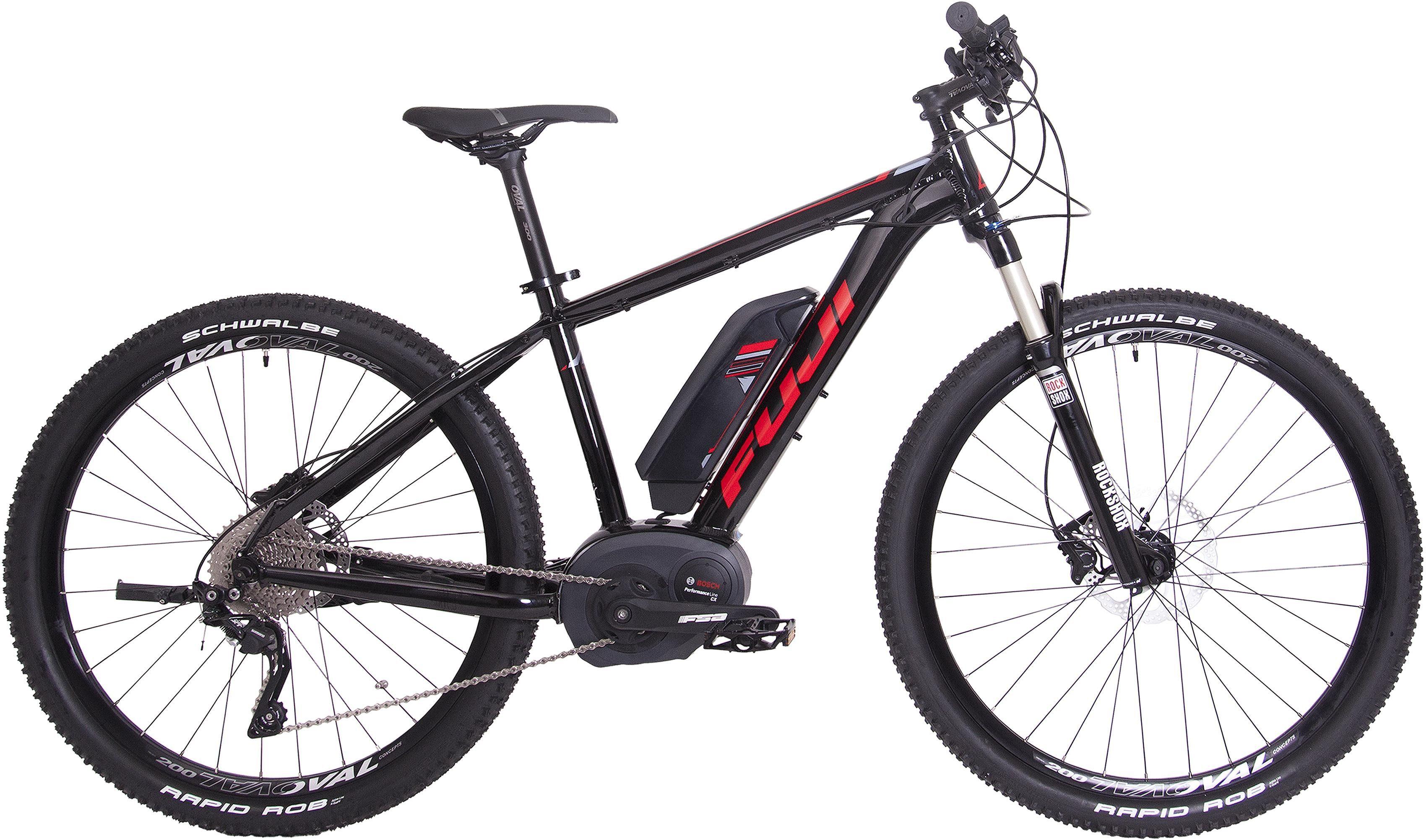 Fuji Herren MTB E-Bike Mittelmotor 36V/250W, 27,5 Zoll, 10 Gang Shimano Deore XT, »AMBIENT 1.3«