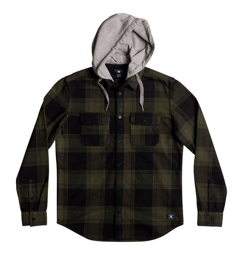 DC Shoes Langarm-Hemd mit Kapuze Runnel Flannel