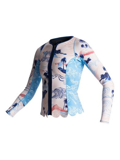 Roxy Langarm-neopren-jacke 1mm Pop Surf Scallop