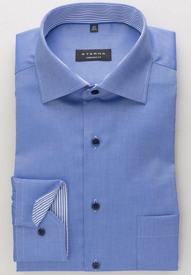 ETERNA Langarm Hemd »COMFORT FIT Natté strukturiert«