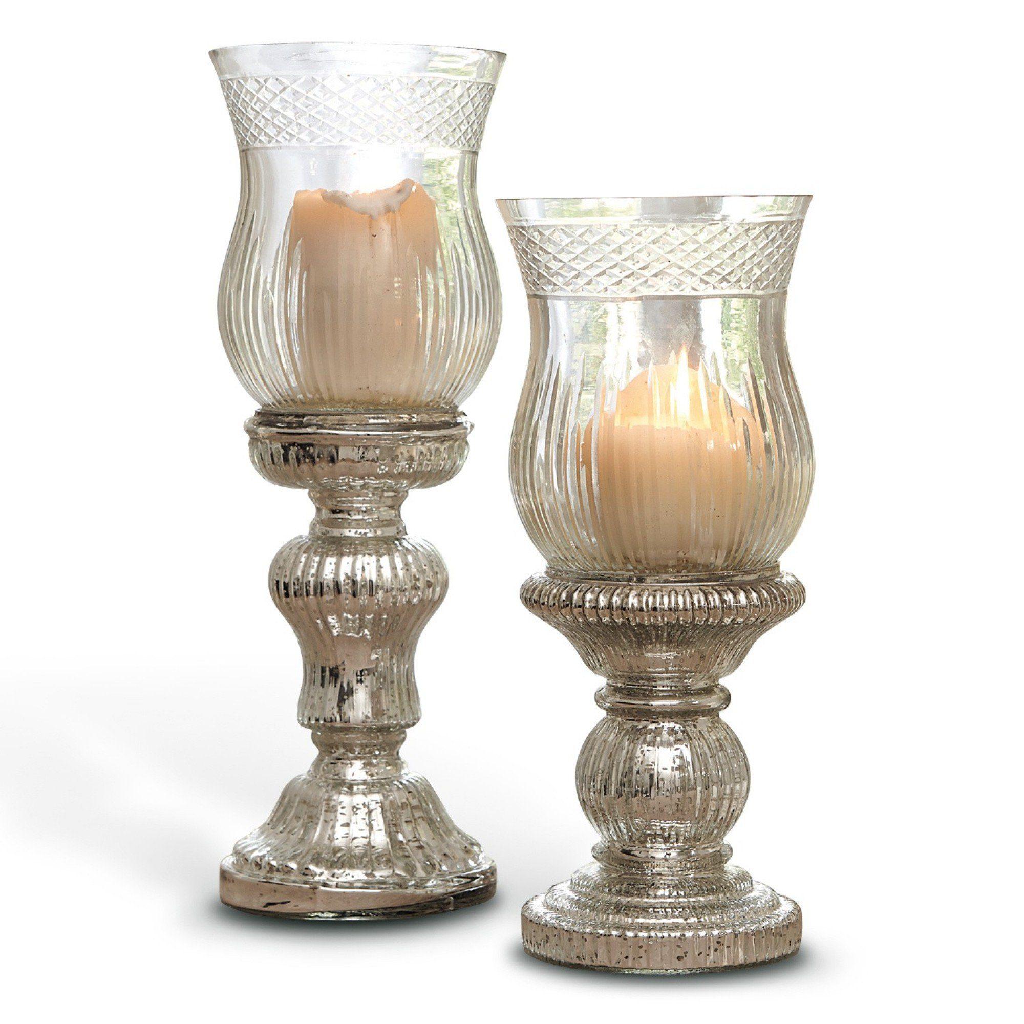 Loberon Kerzenständer 2er Set »Luisant«