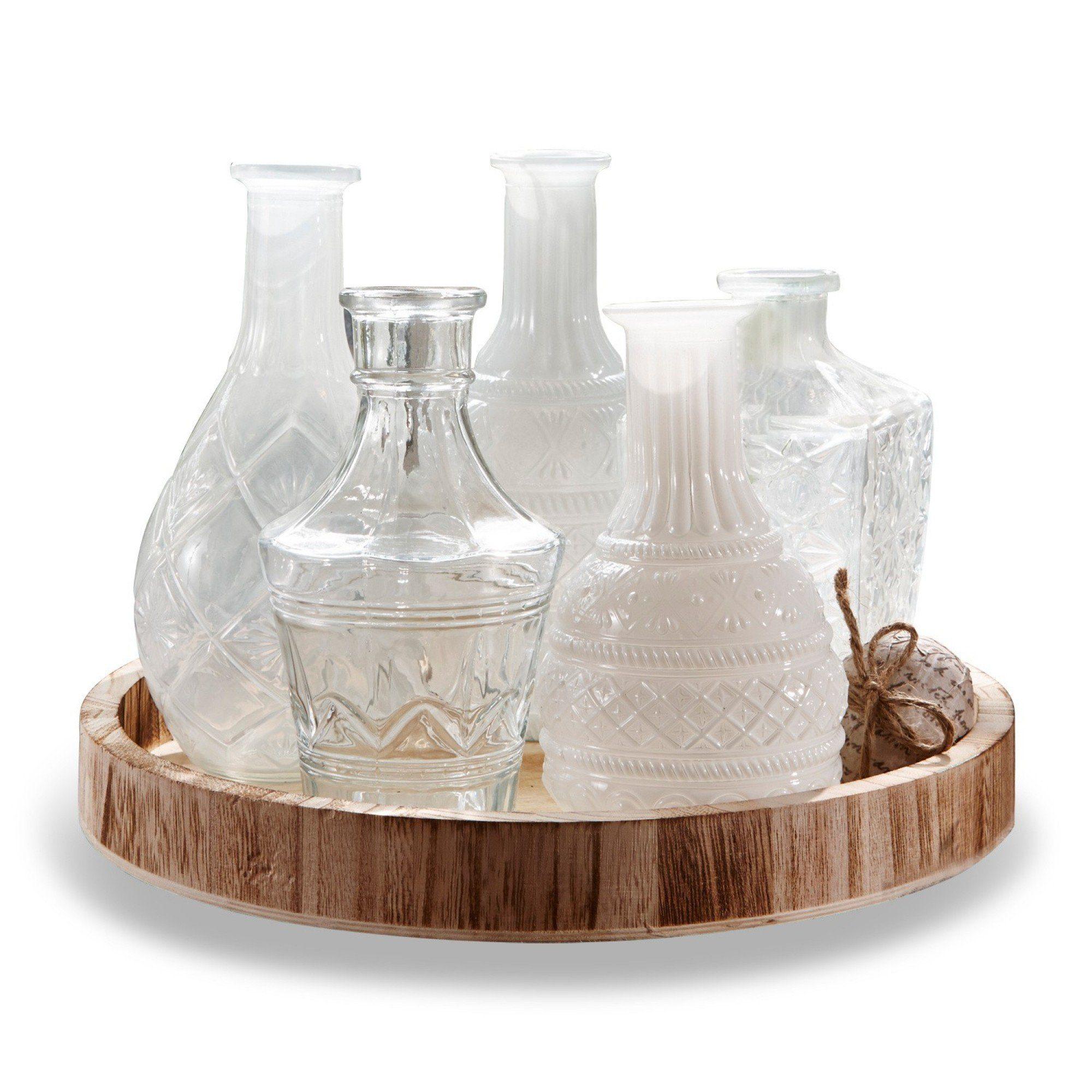 Loberon Tablett mit Vasen »Edeline«