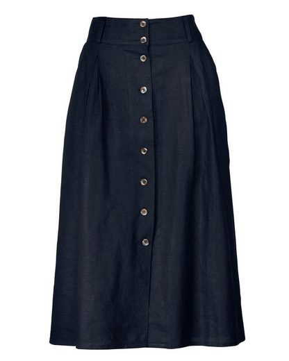 High Moor Linen-pleated Skirt